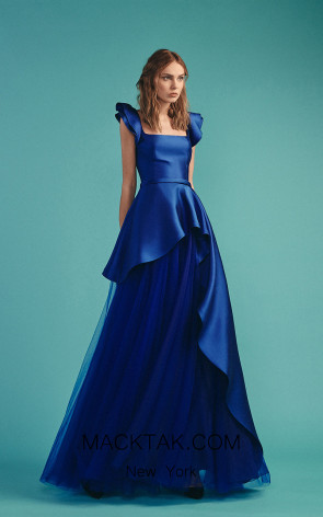 Beside Couture by Gemy Maalouf BC1522 Navy Front Dress