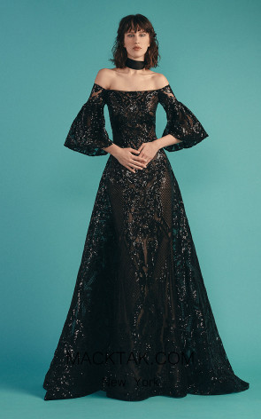 Beside Couture by Gemy Maalouf BC1532 Black Front Dress
