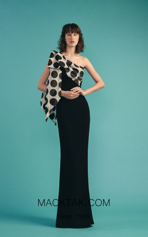 Beside Couture by Gemy Maalouf BC1534 Black Front Dress