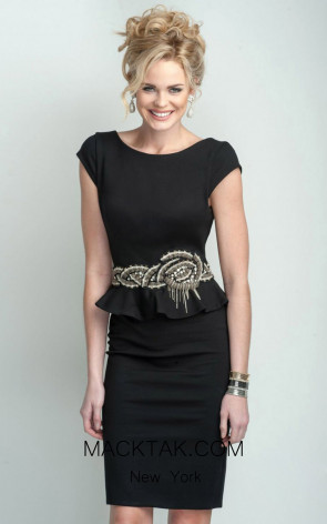 Terani C3678 Black Dress