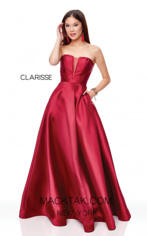 Clarisse 3443 Wine Front Prom Dress
