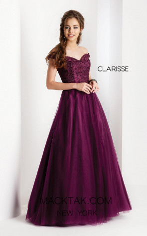 Clarisse 3553 Mulberry Front Prom Dress