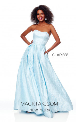 Clarisse 3705 Baby Blue Blue Front Prom Dress