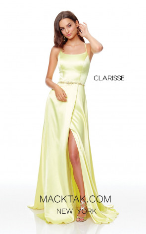 Clarisse 3712 Yellow Front Prom Dress