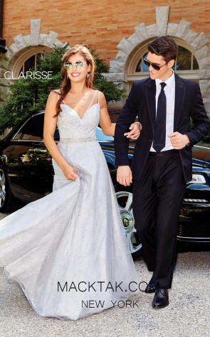 Clarisse 3715 Silver Front Prom Dress