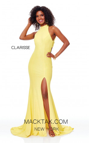 Clarisse 3736 Canary Front Prom Dress