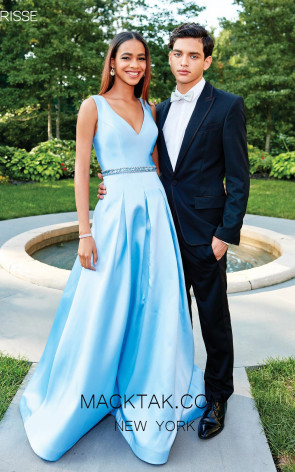 Clarisse 3742 Powder Blue Front Prom Dress