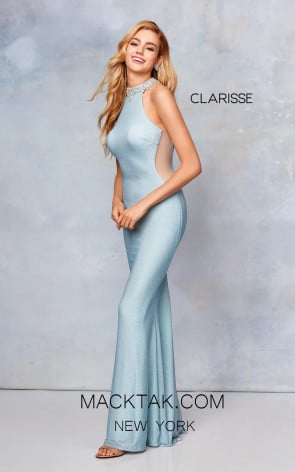 Clarisse 3745 Frost Blue Front Prom Dress