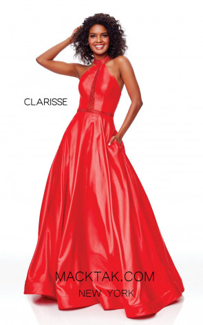 Clarisse 3753 Red Front Prom Dress