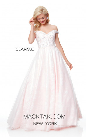 Clarisse 3758 Pale Pink Front Prom Dress
