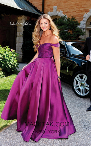 Clarisse 3762 Mulberry Front Prom Dress