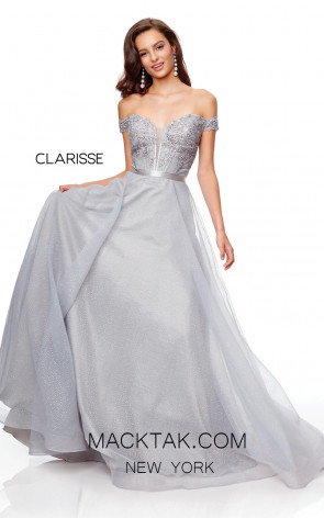 Clarisse 3785 Pewter Front Prom Dress