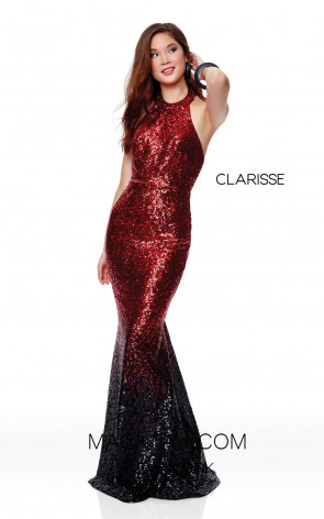 Clarisse 3798 Red Ombre Front Prom Dress