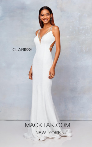 Clarisse 3799 Off White Front Prom Dress