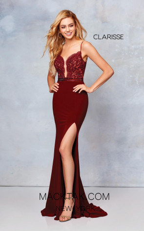 Clarisse 3805 Wine Front Prom Dress