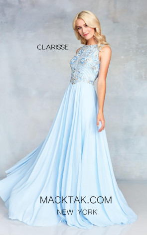 Clarisse 3806 Powder Blue Front  Prom Dress