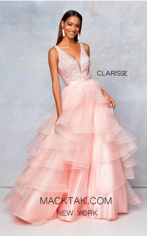 Clarisse 3812 Pink Front Prom Dress