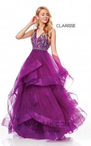 Clarisse 3813 Mulberry Front Prom Dress