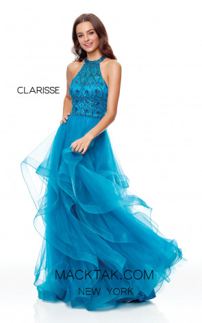Clarisse 3815 Teal Front Prom Dress
