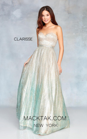 Clarisse 3821 Champagne Ombre Front Prom Dress