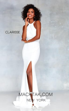 Clarisse 3830 Off White Front Prom Dress