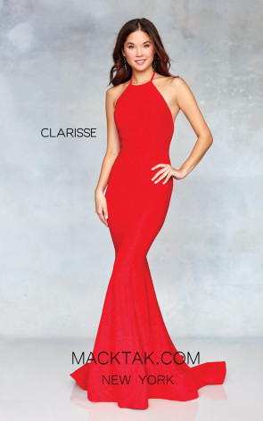 Clarisse 3831 Red Front Prom Dress
