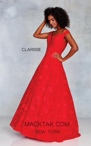 Clarisse 3838 Red Front Prom Dress