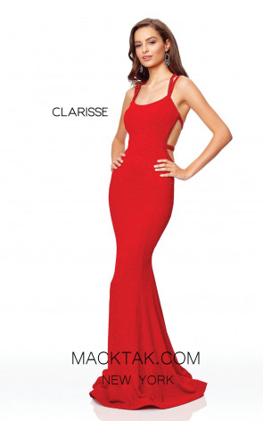 Clarisse 3839 Red Front Prom Dress