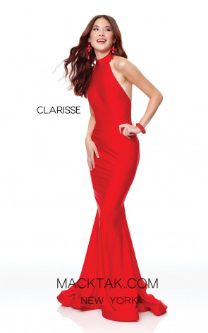 Clarisse 3842 Lipstick Red Front Prom Dress