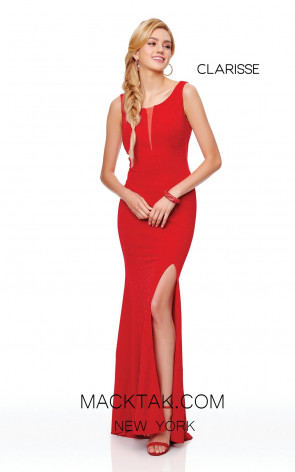 Clarisse 3848 Red Front Prom Dress