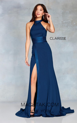 Clarisse 3849 Navy Front Prom Dress