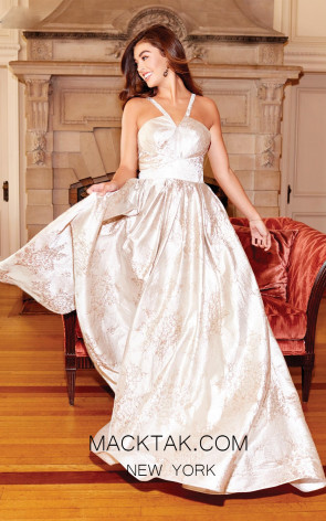 Clarisse 3861 Champagne Front Prom Dress