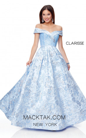 Clarisse 3872 Periwinkle Front Prom Dress