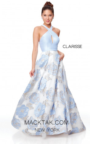 Clarisse 3873 Lilac Print Front Prom Dress