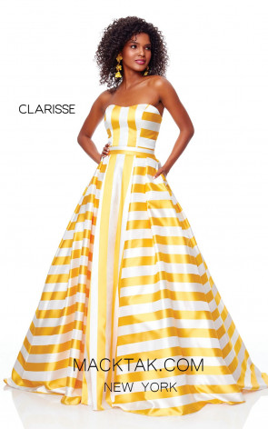 Clarisse 3875 Daffodil Front Prom Dress