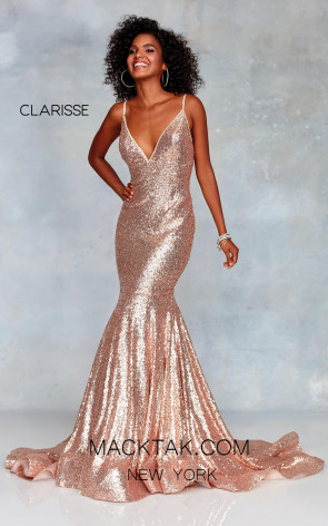 Clarisse 3882 Rose Gold Front Prom Dress