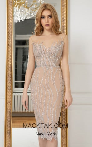 Cristallini SKA976 Front Evening Dress