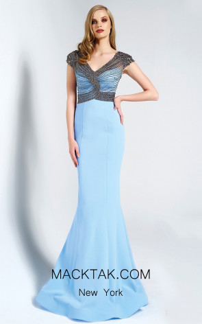 Dressing Room 1313 Baby Blue Front Dress