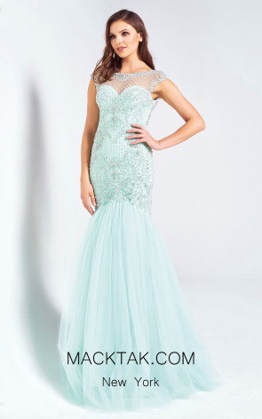 Dressing Room 1321 Baby Blue Front Evening Dress