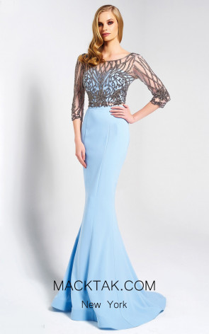 Dressing Room 1324 Baby Blue Front Evening Dress