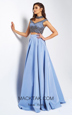 Dressing Room 1332 Baby Blue Front Evening Dress