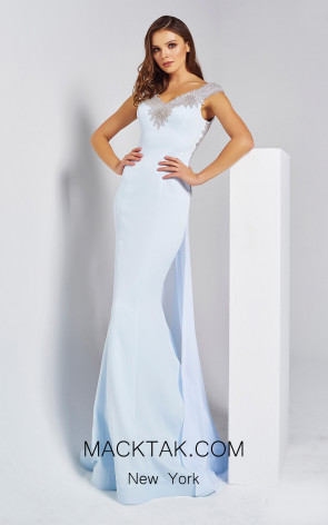 Dressing Room 1334 Baby Blue Front Evening Dress