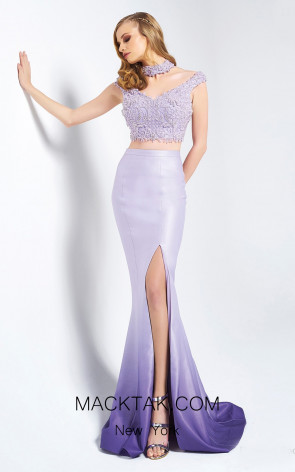 Dressing Room 1343 Lilac Front Evening Dress