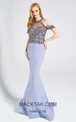Dressing Room 1351 Gray Front Evening Dress