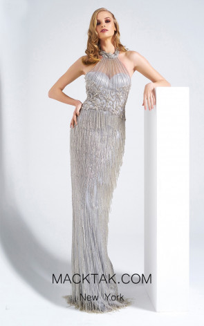 Dressing Room 5001 Gray Front Evening Dress