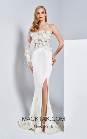 Dressing Room 5007 Ivory Front Evening Dress