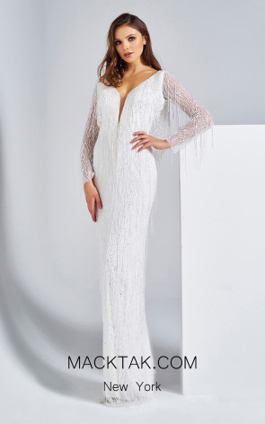 Dressing Room 5005 white Front Evening Dress
