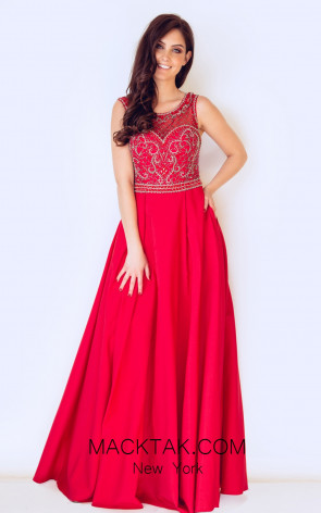 Dynasty 1013032 Front Red Dress