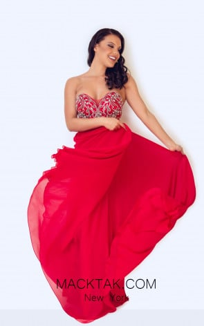 Dynasty 1023004 Front Red Dress