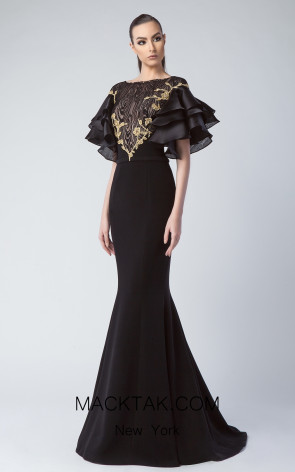 Edward Arsouni FW0234 Black Front Dress